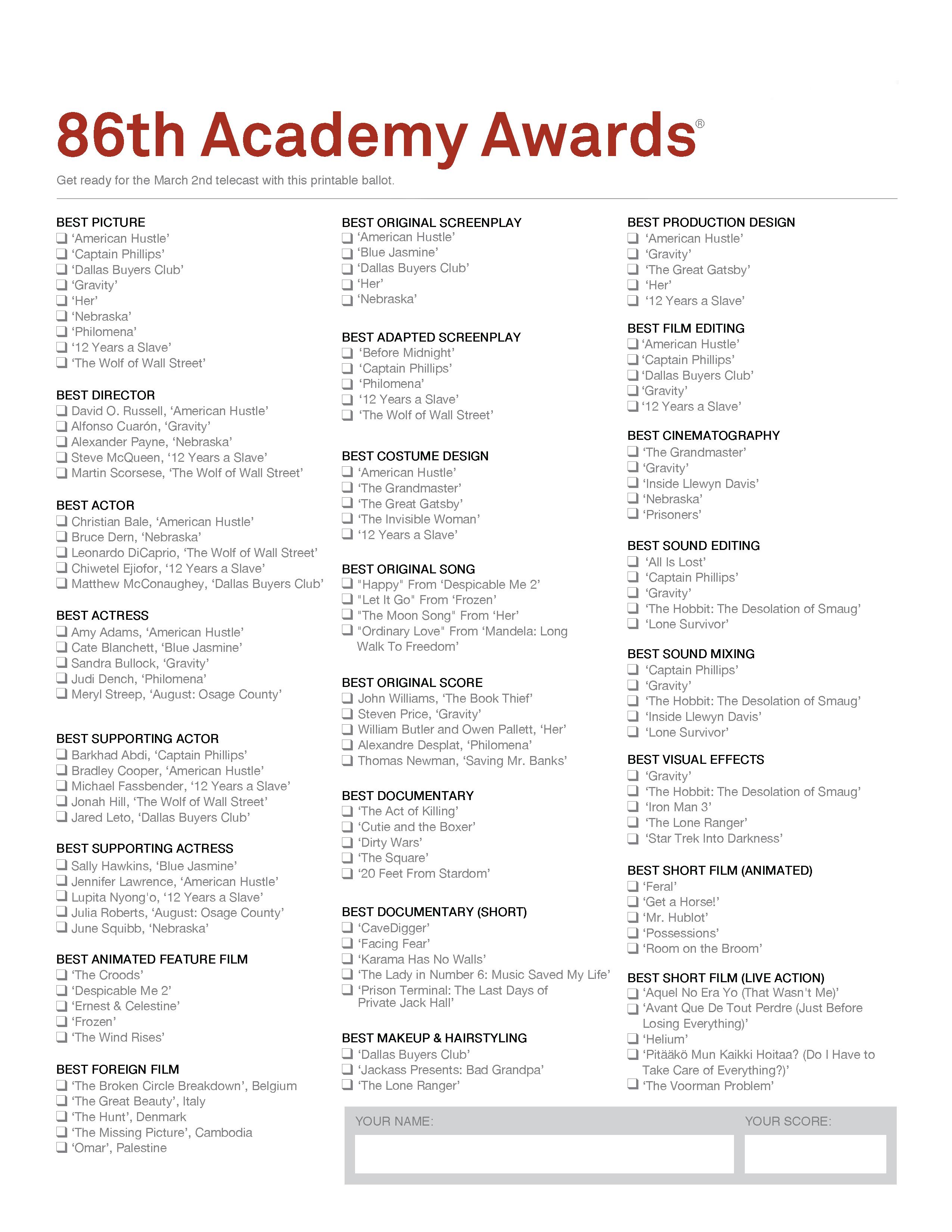 Schools education furthermore Oscars 2011 La Liste  pl Te Des Nomin S in addition Oscar Party Games furthermore Schools education further Schools education. on oscar nomination ballots 2016
